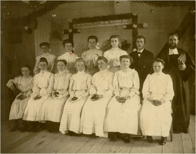 Our Oldest photo -- the confirmation class of 1906